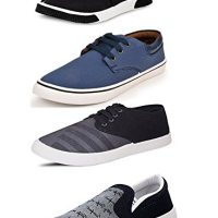 Scatchite Pack Of 4 Footwear (Sneakers & Casual Shoes & Loafers & Moccasins)