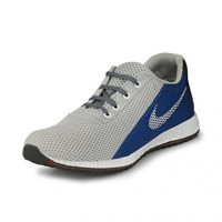 Fucasso Men's Smart Fit Grey Blue Sports Shoes