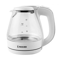 RNG EKO GREEN 1.5-Litre 2200-W Electric LED Glass Kettle–White